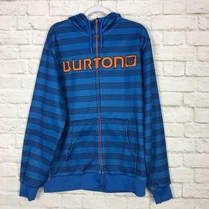 Burton Snowboard DryRide Stripe Hoodie Zip Sweater